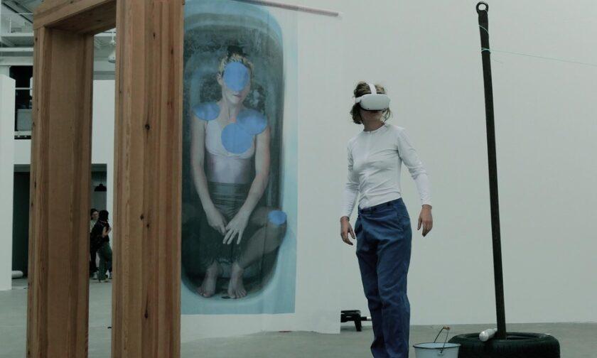 Performance reclaim virtual-reality von Therese Lippold, Reinbeckhallen 2021 Katja Neubert